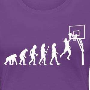 Women's Basketball Evolution - Women's Premium T-Shirt