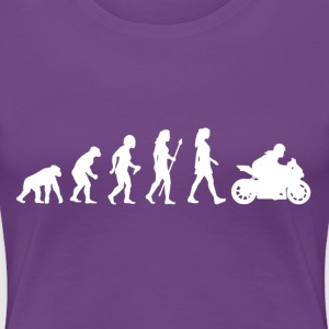 Women's Motorbike Evolution - Women's Premium T-Shirt