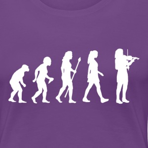 Women's Violin Evolution T Shirt - Women's Premium T-Shirt