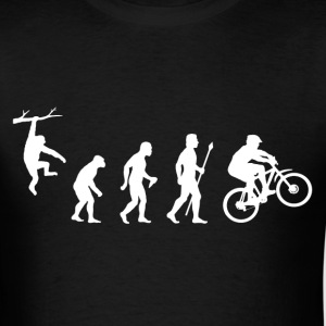 Mountain Biking Evolution - Men's T-Shirt