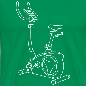 Exercise bike Hometrainer T-Shirts - Men's Premium T-Shirt