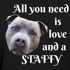 All you need is love and a staffy - Women's T-Shirt