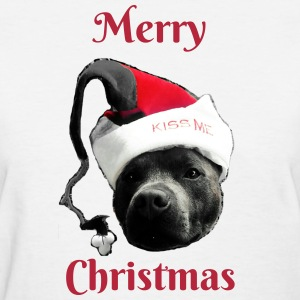 Merry Christmas Staffy2 - Women's T-Shirt
