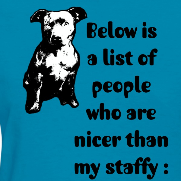 Nice than my Staffy 2 - Women's T-Shirt
