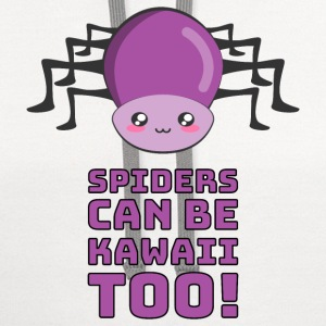 Spiders Can Be Kawaii Too Hoodies - Contrast Hoodie