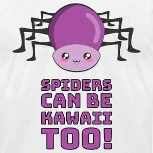 Spiders Can Be Kawaii Too T-Shirts - Men's T-Shirt by American Apparel