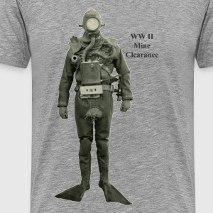 Vintage World War II Mine Clearance Diver - Men's Premium T-Shirt
