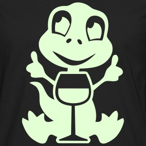 wino saur - glow in the dark product Long Sleeve Shirts - Men's Premium Long Sleeve T-Shirt