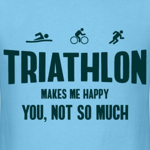 Triathlon. Makes Me Happy T-Shirts - Men's T-Shirt