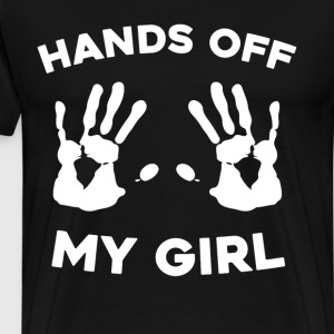 Hands Off My Girl Boyfriend's Matching Couple T-Shirts - Men's Premium T-Shirt