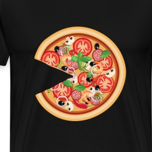 Pizza with Missing Slice Matching Couples T-shirt T-Shirts - Men's Premium T-Shirt