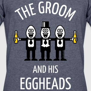 The Groom And His Eggheads (Stag Party / 3C / NEG) T-Shirts - Men's 50/50 T-Shirt