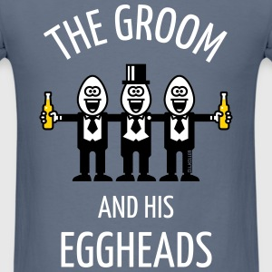The Groom And His Eggheads (Stag Party / 3C / NEG) T-Shirts - Men's T-Shirt