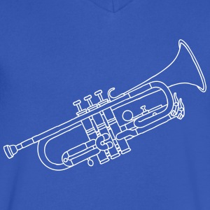 Trumpet brass instrument T-Shirts - Men's V-Neck T-Shirt by Canvas