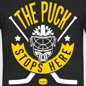 The Puck Stops Here (Hockey) T-Shirts - Unisex Tri-Blend T-Shirt by American Apparel