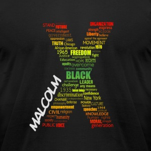 Typographic Malcolm X  - Men's T-Shirt by American Apparel
