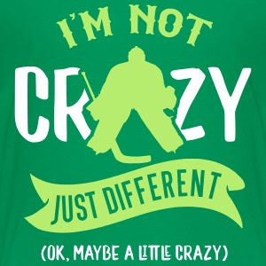 I'm Not Crazy, Hockey Goalie Design Kids' Shirts - Kids' Premium T-Shirt
