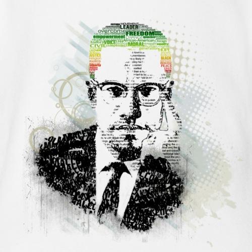 Typographic Malcolm X Portrait