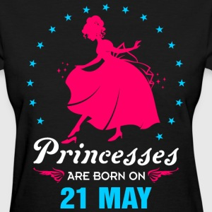 Priencess are Born on 21 May - Women's T-Shirt