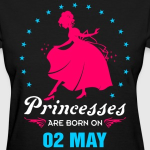 Priencess are Born on 02 May - Women's T-Shirt