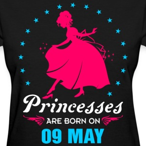 Priencess are Born on 09 May - Women's T-Shirt