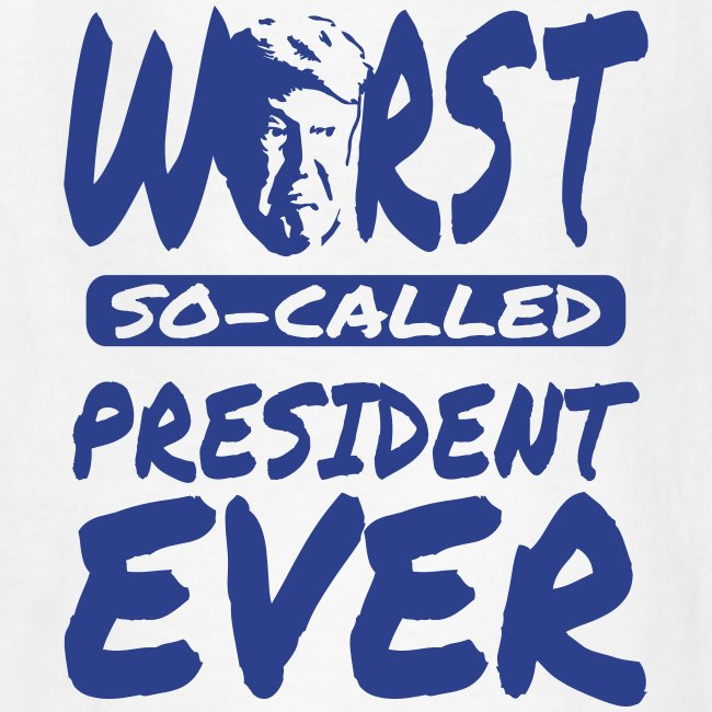 8b1570cf Black Style | Trump worst president ever black design kids t-shirt ...