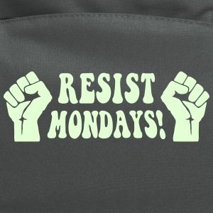 Resist Mondays! - Activist Humor - Computer Backpack