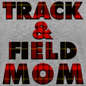 Track and Field Mom Plaid T-Shirts - Men's Premium T-Shirt