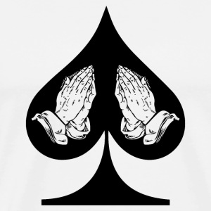 Ace Of Spade Playing Hand - Men's Premium T-Shirt