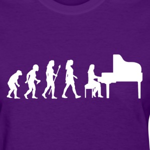 Funny Evolution Of Piano - Women's T-Shirt