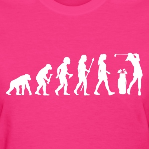 Women's Evolution Of Golf - Women's T-Shirt