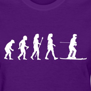 Women's Evolution Of Skiing - Women's T-Shirt
