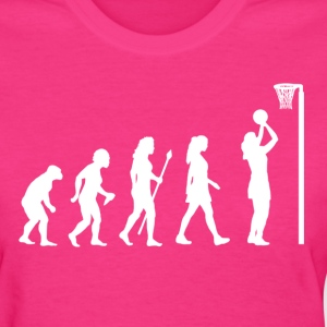 Evolution Of Netball T Shirt - Women's T-Shirt