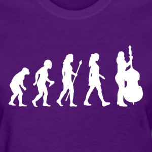 Evolution Of Double Bass - Women's T-Shirt