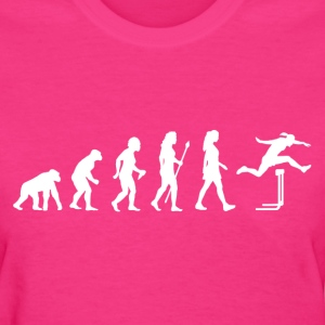 Women's Evolution Of Hurdles  - Women's T-Shirt