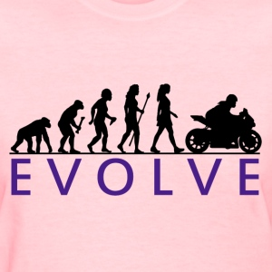 Women's Motorcycle Evolution - Women's T-Shirt