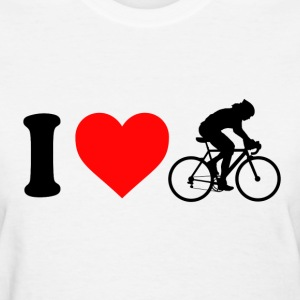 Women''s I Love Cycling - Women's T-Shirt