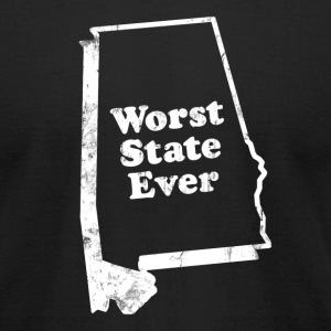 ALABAMA - WORST STATE EVER T-Shirts - Men's T-Shirt by American Apparel