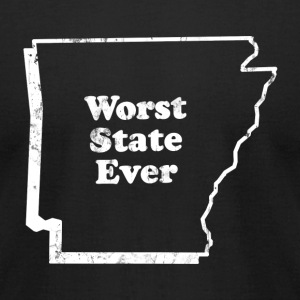 ARKANSAS - WORST STATE EVER T-Shirts - Men's T-Shirt by American Apparel