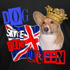 dog save the queen london 2012 celebration tee welsh corgi. T-Shirts