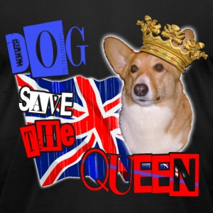 dog save the queen london 2012 celebration tee welsh corgi. T-Shirts - Men's T-Shirt by American Apparel