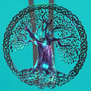 TREE OF LIFE - night moon - Contrast Hoodie