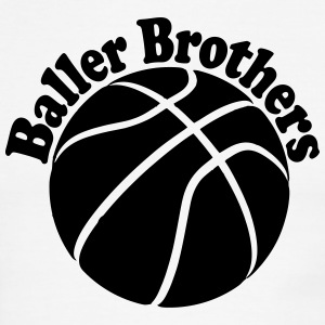 Baller Brothers basketball shirt 3 - Men's Ringer T-Shirt