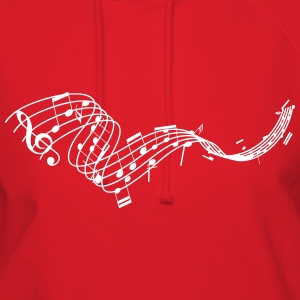 Music is Life Music Sheet Hoodies - Women's Hoodie