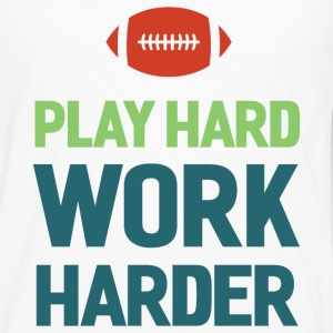 Football. Play Hard. Long Sleeve Shirts - Men's Premium Long Sleeve T-Shirt