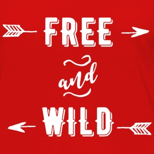 Free and Wild Long Sleeve Shirts - Women's Premium Long Sleeve T-Shirt