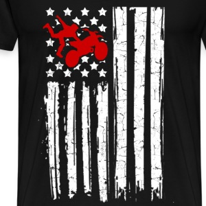 mtorcross flag 22.png T-Shirts - Men's Premium T-Shirt