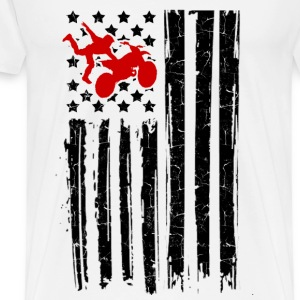 motorcross flag 12.png T-Shirts - Men's Premium T-Shirt