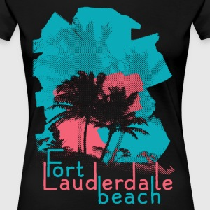 Palm Trees on Fort Lauderdale Beach T-Shirts - Women's Premium T-Shirt