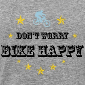 Don't worry bike happy - Men's Premium T-Shirt